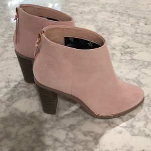 Ted Baker EU 36 Ankle Boots Pink Suede Lorca